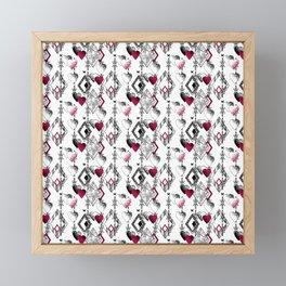 Love, fishnet, patchwork Framed Mini Art Print