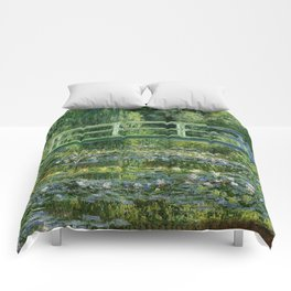 Water Lilies and Japanese Footbridge, Claude Monet Comforters