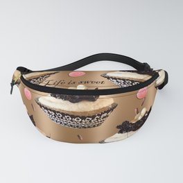 Life is sweet cupcakes Fanny Pack