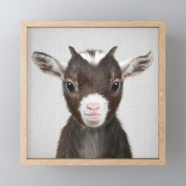 Baby Goat - Colorful Framed Mini Art Print
