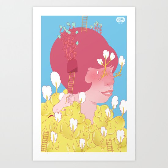 Former And Ladder Art Print