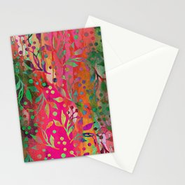 Tropical Summer colorful botanical pattern Stationery Cards