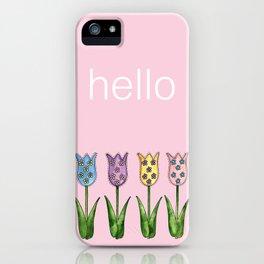 Tulip Row iPhone Case