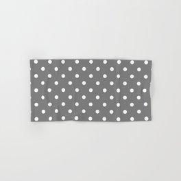 Grey & White Polka Dots Hand & Bath Towel