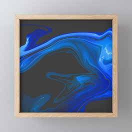 Countless- Marble Pattern Framed Mini Art Print