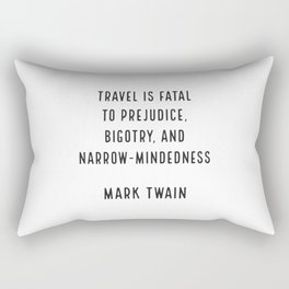 Mark Twain on Travel Rectangular Pillow