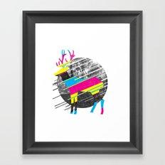 CMYK Deer Framed Art Print