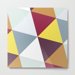 WARM AND COLD TRIANGLES Metal Print