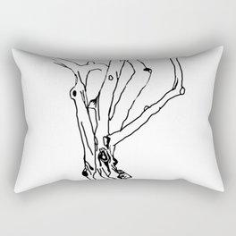 unfinished tree Rectangular Pillow