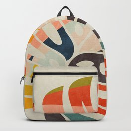 shape leave modern mid century Backpack