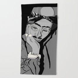 Thug in thought Beach Towel