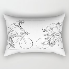 Transitions through Triathlon Cyclists Drawing A Rectangular Pillow