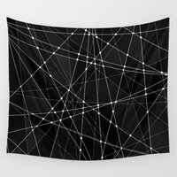 constellations Wall Tapestries featuring Constellations 3 by Dood_L