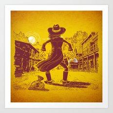 The Last Showdown - The bad guy Art Print