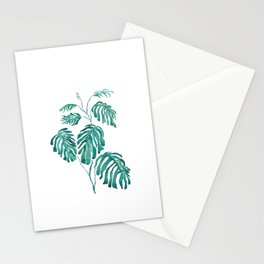 Monstera painting 2017 Stationery Cards