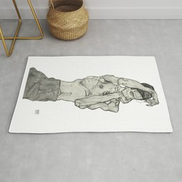 Egon Schiele Zeichnungen II (Drawings 2) 1914 Artwork for Posters Prints Tshirts Men Women Kids Rug