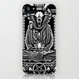Baphomet Tranquility Stippling iPhone Case