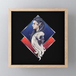 Elves - Dark and Light Framed Mini Art Print