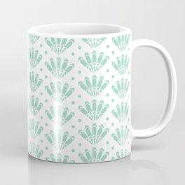 Aqua menthe and white art deco seashell pattern Coffee Mug