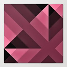 Pink and Black Gradient  abstract Canvas Print