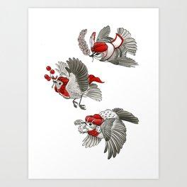 We Three Kinglets Art Print