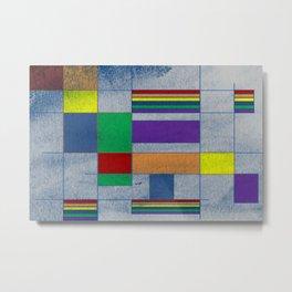 MidMod Rainbow Pride 1.0 Metal Print
