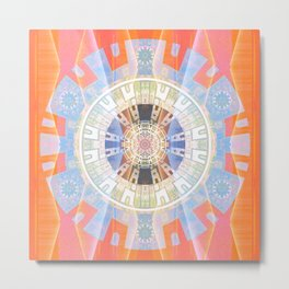 Transparent Odyssey Shamanic Journey Aztec Mandala Metal Print