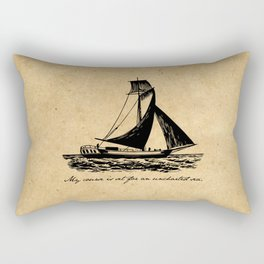 Divine Comedy - Dante Alighieri - Uncharted Sea Rectangular Pillow