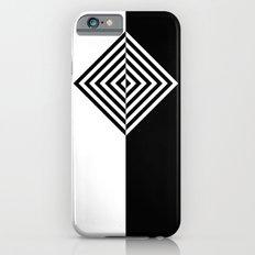 Black and White Concentric Diamonds Slim Case iPhone 6s