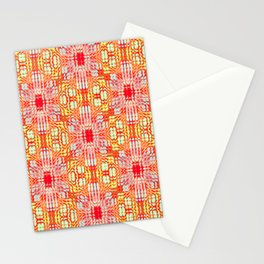 "series ""Stained glass"" - red and yellow Stationery Cards"
