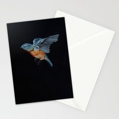 Northern Blue Bird in Flight Stationery Cards