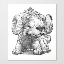The South Highland Ram Dog Canvas Print