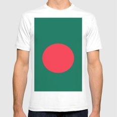 Flag Of Bangladesh White MEDIUM Mens Fitted Tee
