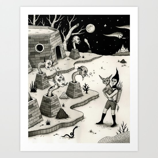 Encounter with the Chimney Dwellers Art Print