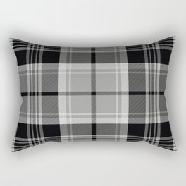 Black & White Tartan (var. 2) Rectangular Pillow