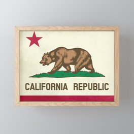 California Republic Flag Framed Mini Art Print