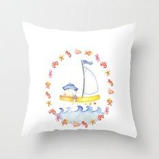 Baby sailor Throw Pillow