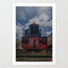 On the rails Art Print
