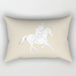 Eventing in Tan Rectangular Pillow