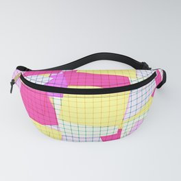 Yellow pink plaid Fanny Pack