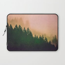 Cascadia Green Trees and Sunset Laptop Sleeve