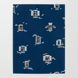 Paris Windows 2 Pattern Poster