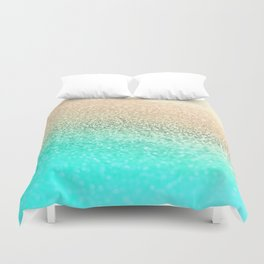 GOLD AQUA Duvet Cover