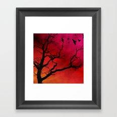Fire sky Framed Art Print