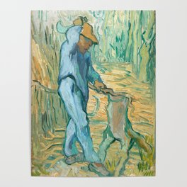 The Woodcutter by Vincent van Gogh, 1889 Poster