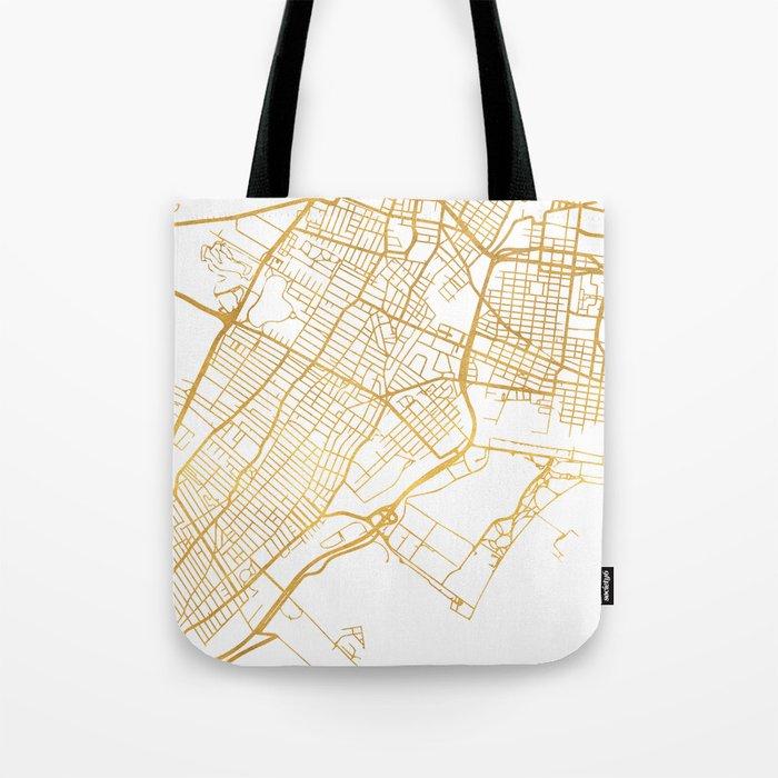 JERSEY CITY NEW JERSEY STREET MAP ART Tote Bag