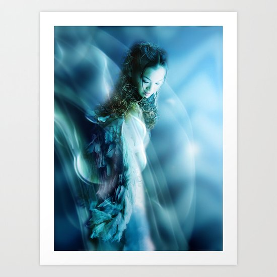 THERE MUST BE AN ANGEL ... Art Print