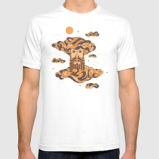 Head in the Clouds SMALL White Mens Fitted Tee