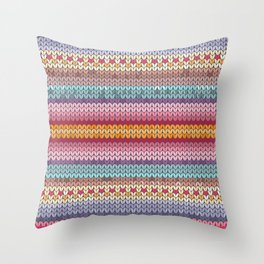 knitting pattern Throw Pillow