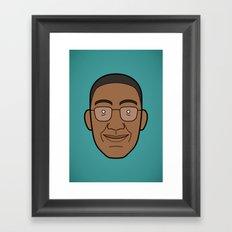 Faces of Breaking Bad: Gustavo Fring Framed Art Print
